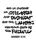 Clothed - Proverbs 31:25